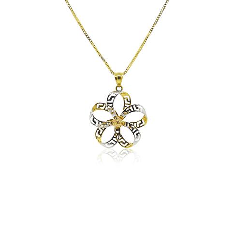 Collar Oro 18kt Infinito en Flor