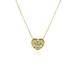 Collar Oro 18kt Corazón Circones