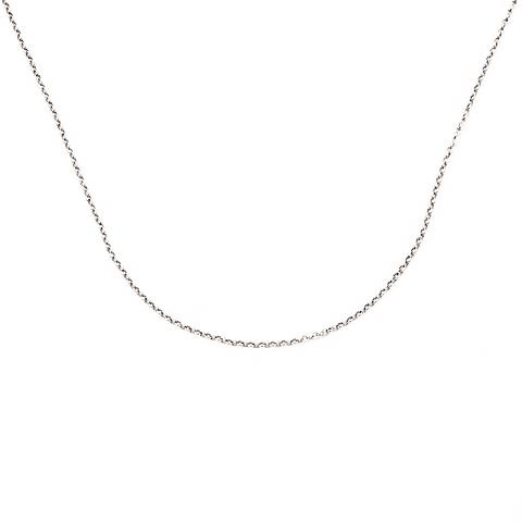 Cadena Oro Blanco 18Kt Portuguesa 40cm