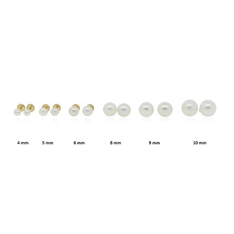 Aros Oro 18kt Perla Cultivada desde 3-3,5mm a 6-6,5mm
