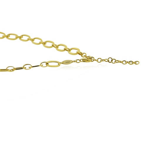 Collar Oro 18kt Eslabón Plano