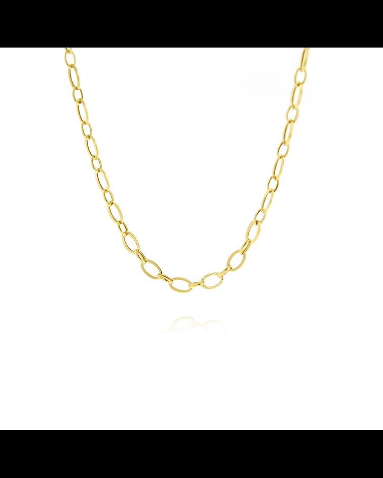 Collar Oro 18kt Triple Eslabón Plano