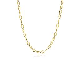 Collar Oro 18kt Eslabón en Rombo