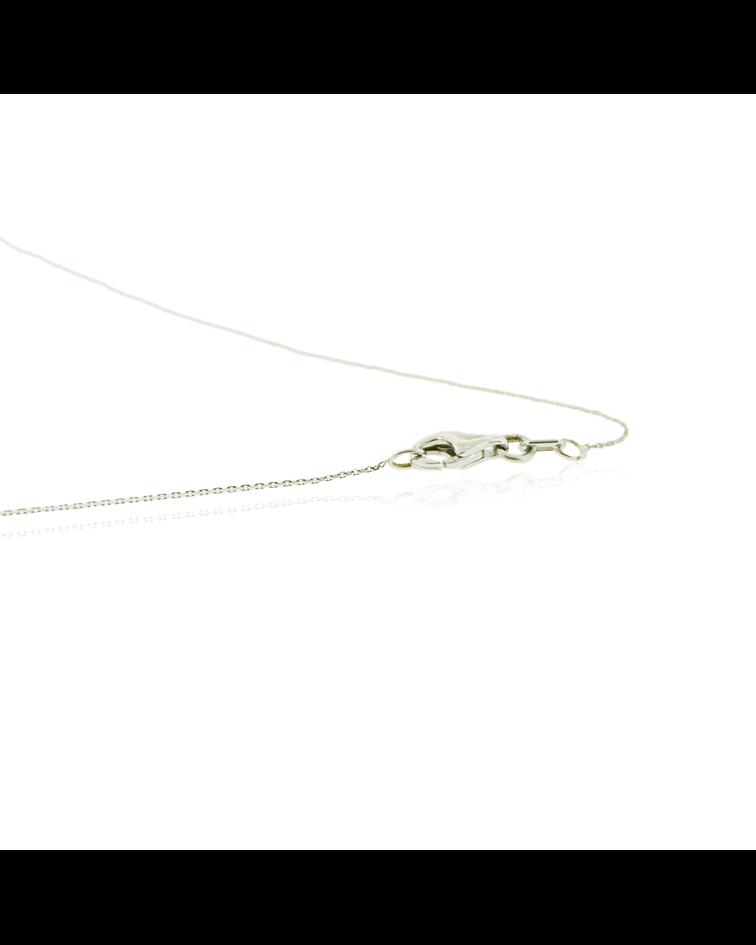 Collar Oro Blanco 18kt Diamantes y Zafiro 45pts