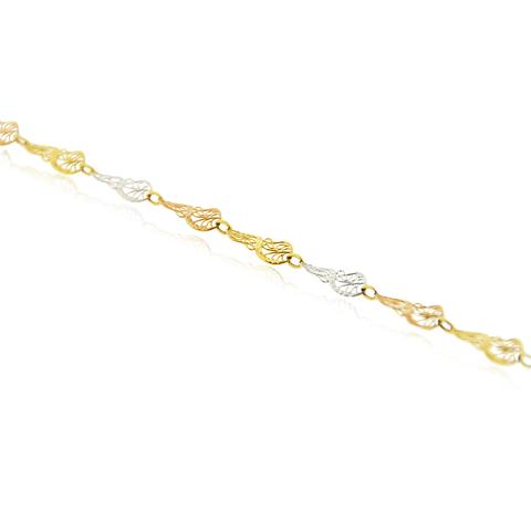 Pulsera Oro 18kt Tricolor Filigrama