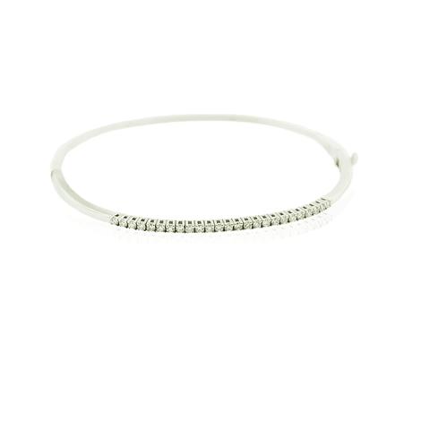 Pulsera Oro Blanco 18kt Diamantes ½ Quilate
