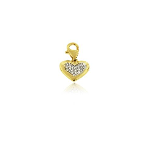 Colgante Oro 18kt Corazón Circones