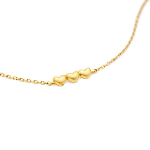 Pulsera de Oro 18 Kt Modelo Corazón 2,0grs