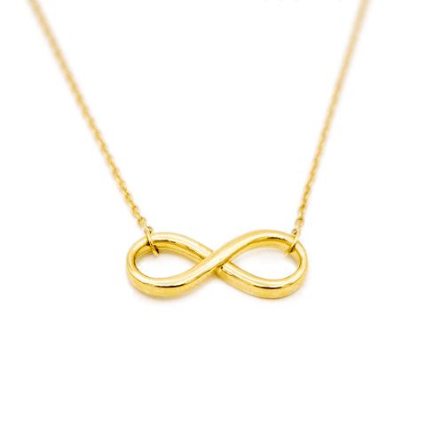 Collar de Oro 18 Kt Modelo Infinito.