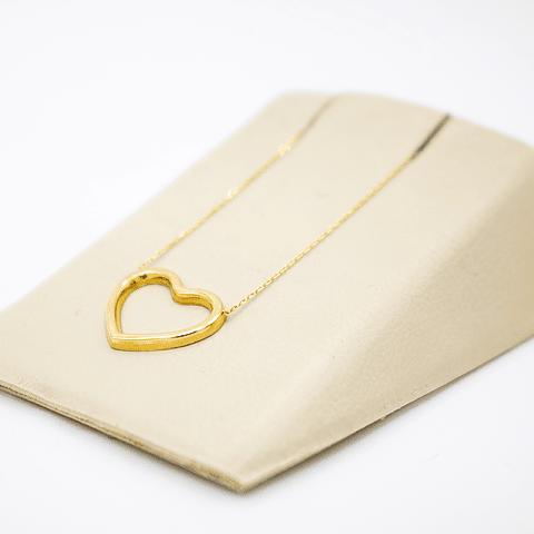 Collar de Oro 18 Kt Modelo Corazón con un peso de 1,2 grs