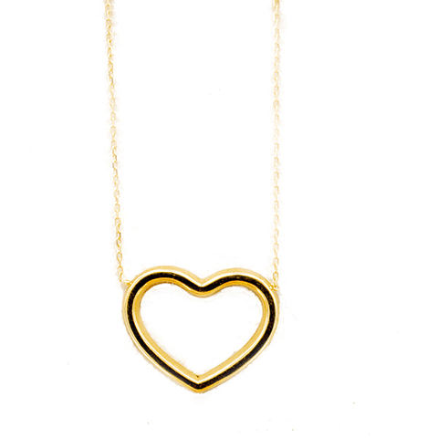 Collar de Oro 18 Kt Modelo Corazón