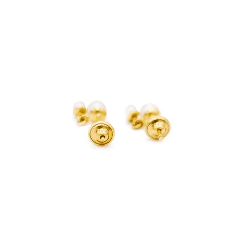 Aro Colgante de Oro 18 Kt Perla Cultivada 4.0 mm