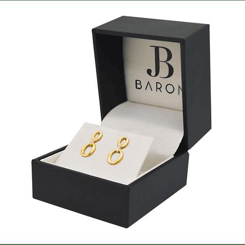 Aros de Diamante 6Pts en Oro de 18 Kt.