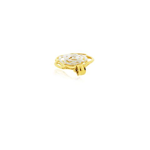 Colgante Oro 18kt Flor Calada