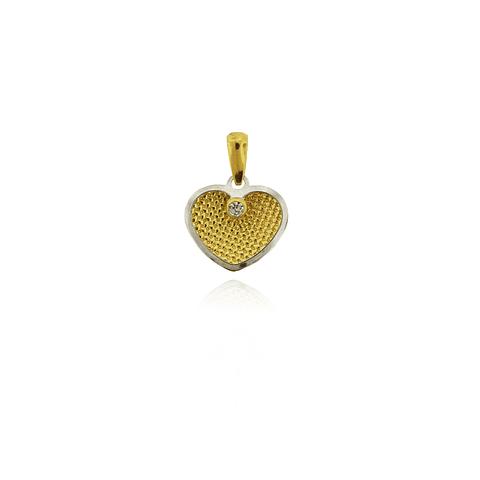 Colgante Oro 18kt Corazón Circon