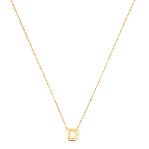 Collar de Oro 18 Kts., Letra D