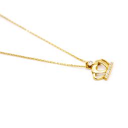 Collar de Corona de Diamantes Oro de 18 Kts., 2,1 grs.