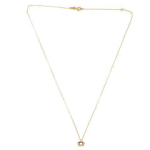 Collar Corona de Diamantes Oro de 18 Kts