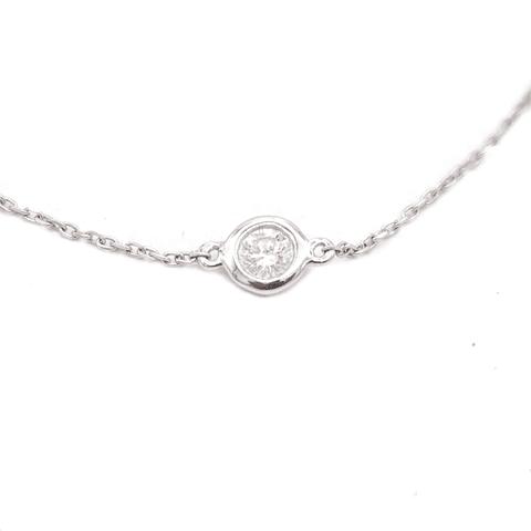 Pulsera de Diamantes Oro 18 Kts., 1 Brillante.