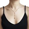 Collar Oro 18kt Rosario Virgen Cruz