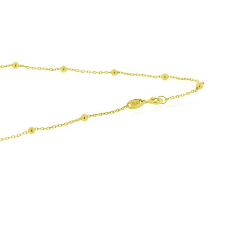 Collar Oro 18kt Triple Corazon Circones
