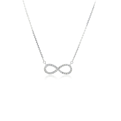 Collar Oro Blanco 18kt 16,5pts Diamantes infinito