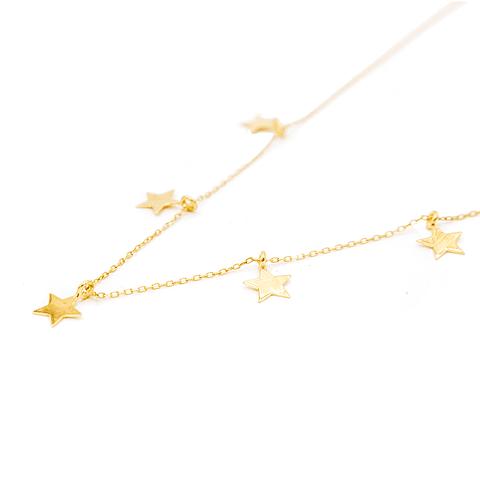 Collar de Oro 18kt Modelo 5 Estrellas