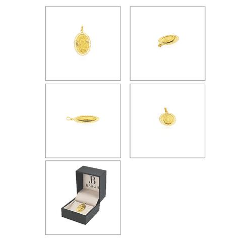 Colgante Oro 18kt Virgen de Lourdes peso 0,8grs