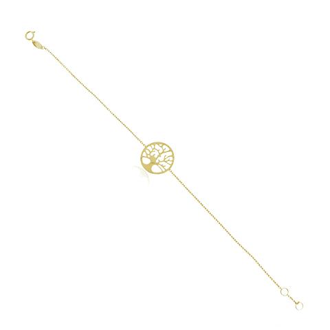 Pulsera Oro 18kt Árbol de la Vida