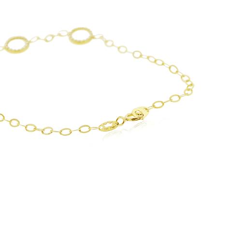 Pulsera Oro 18kt Círculos en Circon