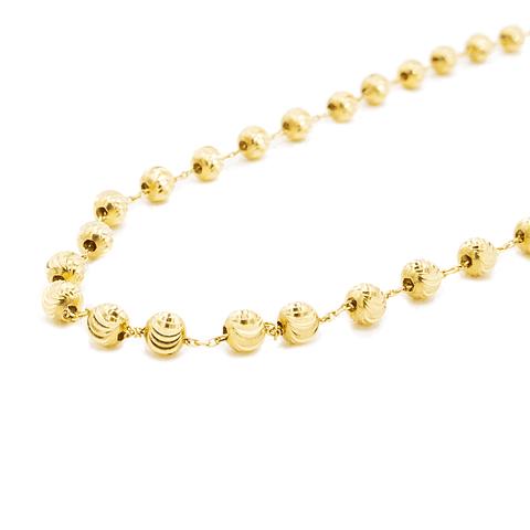Collar Oro de 18 Kts. Modelo Esferas Facetadas
