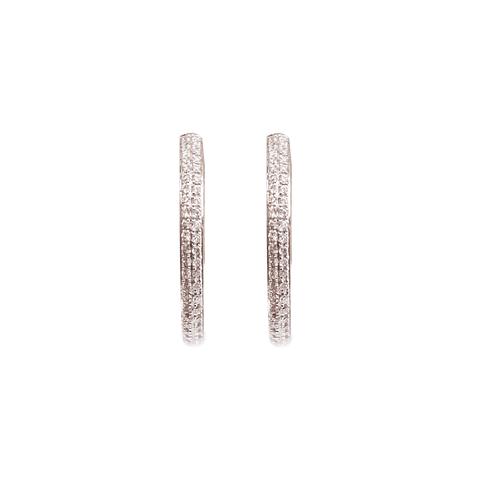 Aros de Diamante Oro de 18 Kts. Modelo Argolla