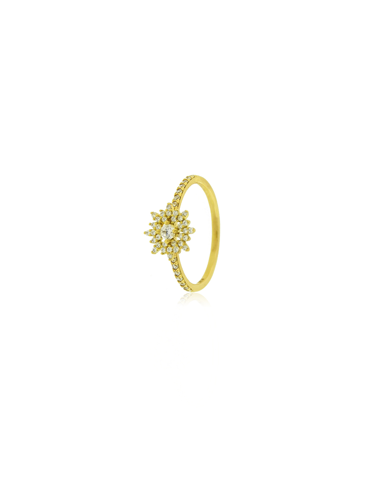 Anillo Oro 18kt Copo de Nieve Circones