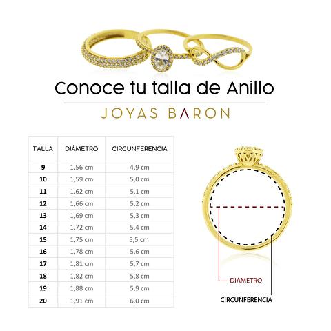 Anillo Oro Blanco 18kt Diamantes Medio Cintillo 13Pts