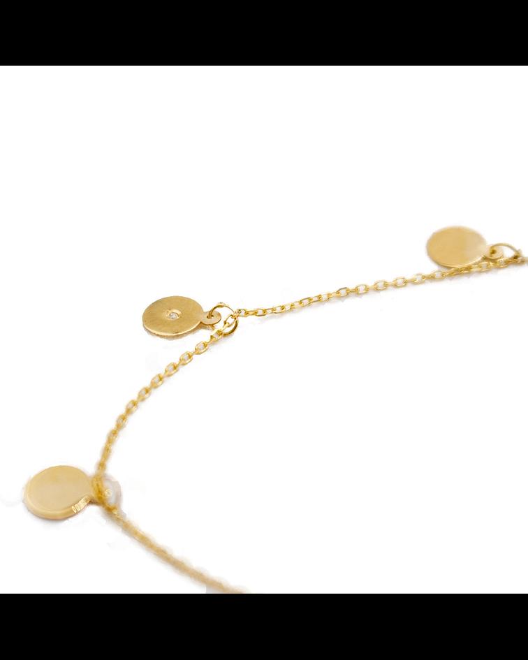Collar de Diamante Oro 18 Kts. Modelo Chokers Círculo