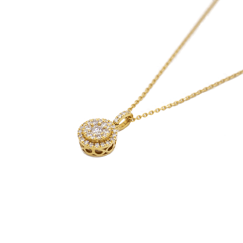 Collar de Diamante Oro de 18 Kts. 3,8 grs.