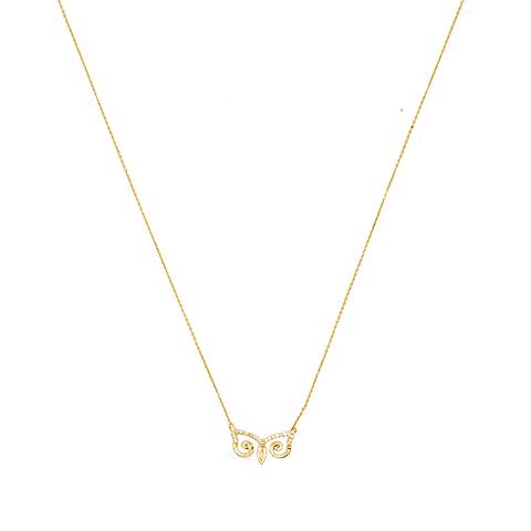 Collar de Diamante Oro de 18 Kts. Modelo Búho