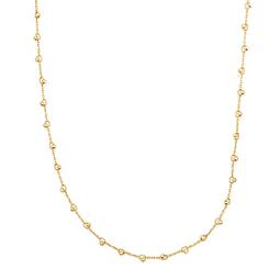 Collar de Oro 18 Kts. Modelo Esferas Facetadas pequeñas