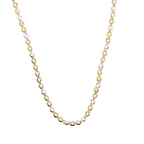 Collar de Oro 18 Kts. Modelo Tricolor