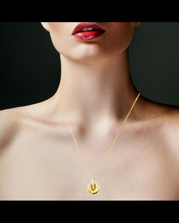 Collar de Oro 18 Kts. con Circones