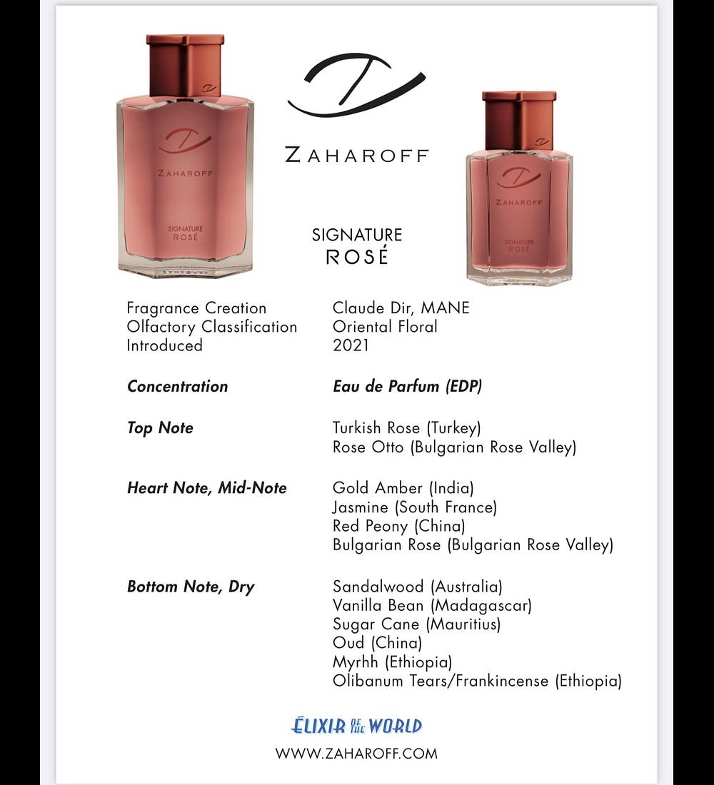 Zaharoff Signature ROSÈ EDP 60ml