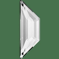 TRAPEZE FLAT BACK  12,9 x 4,2 mm  CRYSTAL 001