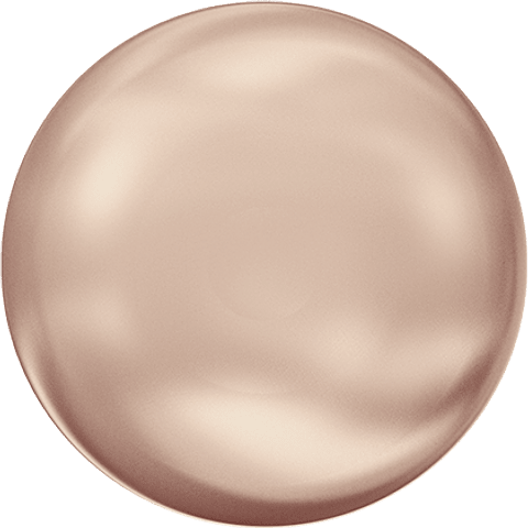 COIN PEARL ROSE GOLD 10,0 MM