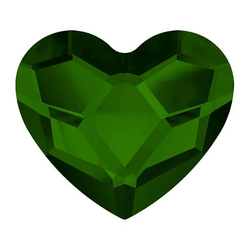 HEART DARK MOSS GREEN 14,0  mm