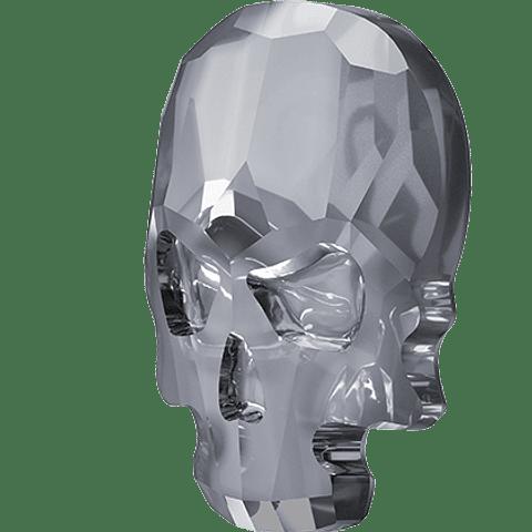 Skull  Flat Back. Silver Nigth. 14,5 X 10,5 mm