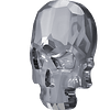 Skull  Flat Back  Silver Nigth  10 x 7,5 mm