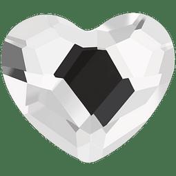 HEART AURORA FLAT BACK 001 6 MM