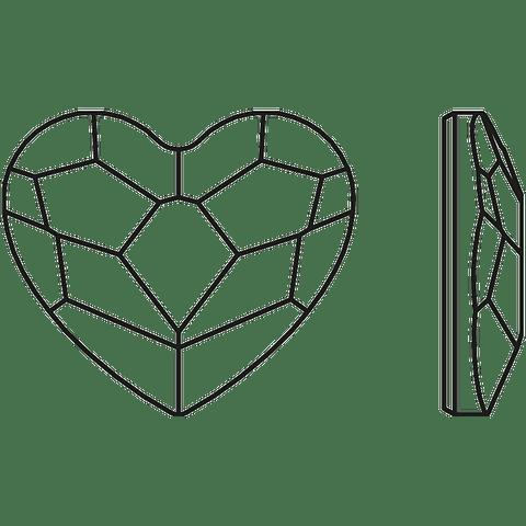 CORAZON AURORA FLAT BACK , AURORE BOREALE ( AB ) 6 mm