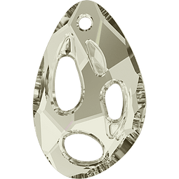 RADIOLARIAN SILVER SHADE 18 MM  x 11,5 MM