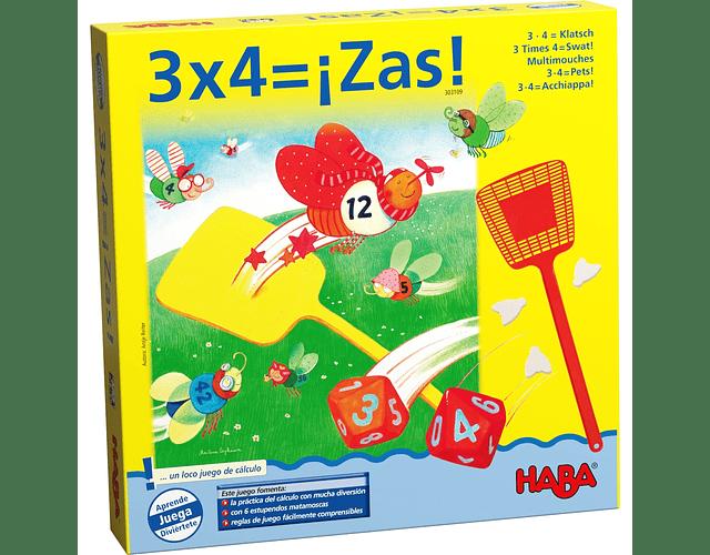 3 x 4 = ¡Zas!
